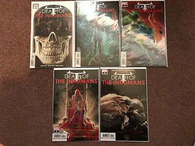 Death of the Inhumans #1-5 (Marvel, 2018). Complete series. 5 comic book lot.