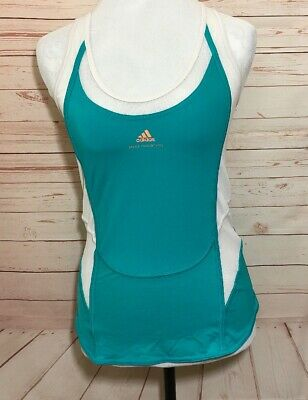 Stella Mccartney Adidas Size 40 Teal White Athletic Tank Top