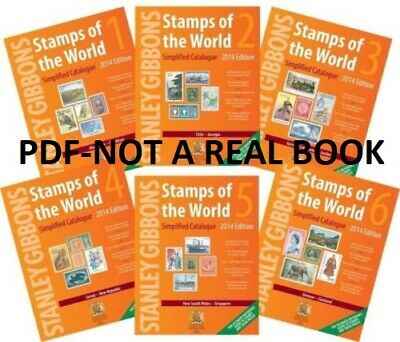 Stanley Gibbons Stamps of the World Catalogue 2014. Volume 1-6 & BONUS