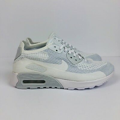 NIKE AIR MAX 90 Ultra 2.0 Flyknit Womens Shoes White Blue