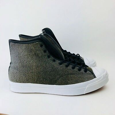 197d8feba11b0e Converse Jack Purcell Woolrich Street Boots Mens Sizes 153880C Wool White  Black