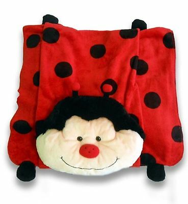 Soft Toy Blanket Kids Snuggle Rug with Ladybug Pillow Soft Toy Pet New Clearance