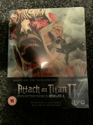Rare Attack On Titan Part 2 Uk Region B Blu Ray Steelbook Brand New Sealed Mint