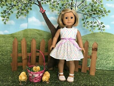 American Girl fitting Easter Dress, 18 inch doll clothes