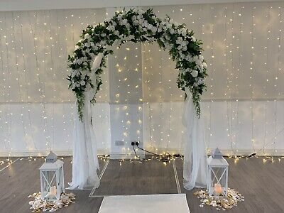 WEDDING CHURCH AISLE flowers decorations PEW ENDS HIRE !!! SM3
