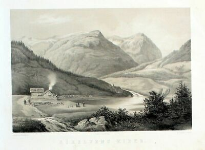 1850 - Sorelven Church Norway Norwegen Lithographie