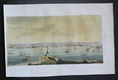 1825 - St. Petersburg Russia Russland Aquatinta aquatint antique print