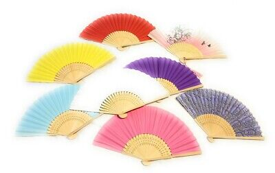 Chinese Spanish Plain Paper Wooden Folding Fan to Decorate Craft Party Gift Fans