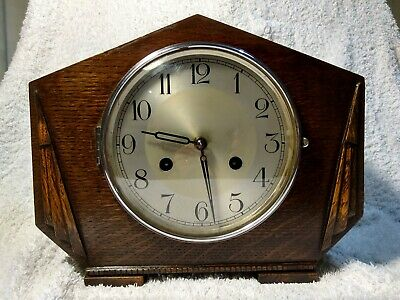Haller Art Deco striking mantel clock, serviced and fully working