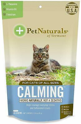 Calming Chews for Cats, Pet Naturals of Vermont, 30 chews 1 pack