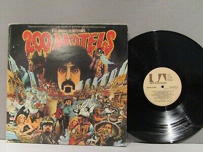 FRANK ZAPPA 200 MOTELS 1971 Book & Lg Poster Psych  2 Vinyl Lps N/M