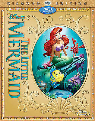 The Little Mermaid (Blu-ray/DVD, 2013, 2-Disc Set, Diamond Edition Includes Dig…