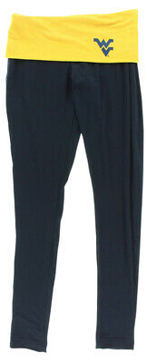 72edbe2530291 College Concepts Womens West Virginia Mountaineers Team Leggings Navy Blue