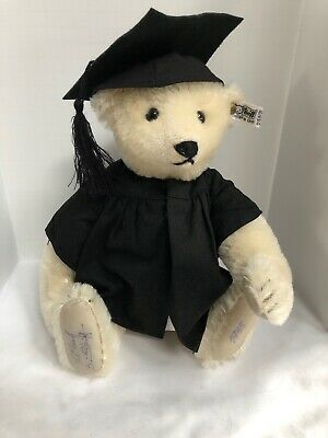 "Steiff White Bear 12"" Collectors Edition 1985 Mohair Signed 0158/31"