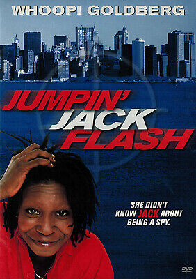 Jumpin' Jack Flash (DVD, 1986) Whoopi Goldberg NEW SEALED!!!