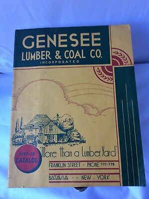 Vintage 1930s BATAVIA NY Genesee LUMBER & COAL Home Locks Barn Catalog History