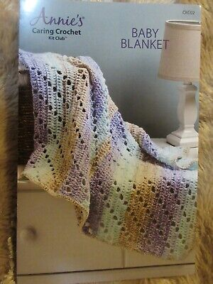 Annie's Caring Crochet Kit, BABY BLANKET