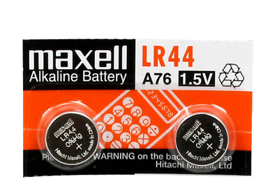 LR44 Maxell 2 Piece A76 L1154 AG13 357 New Alkaline Battery Brand New Package