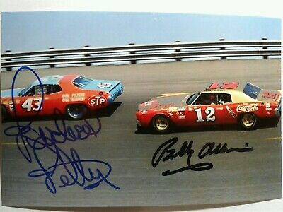 Richard Petty & Bobby Allison Authentic Hand Signed Autograph 4X6 Photo -
