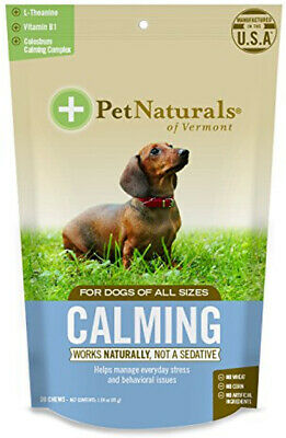 Calming Formula for Dogs, Pet Naturals of Vermont, 30 chews