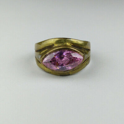 Antique Roman Ring Bronze Stunning Authentic With Stone Beautiful Rare type
