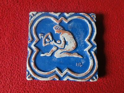 Vintage Mercer Moravian Pottery & Tile Works Arts & Crafts Tile