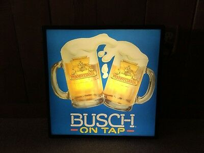 Vintage Busch Beer Pennsylvania On Tap Lighted Sign Advertising Light Man Cave