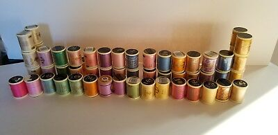 Anchor Machine Embroidery Thread 100% cotton - 49 spools (39 new, 10 used)