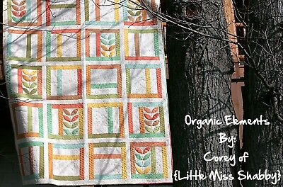 "Organic Elements Quilting Kit by Corey Yoder for Moda inc. backing 74"" x 92"""