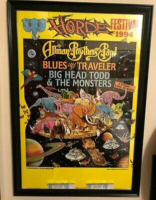 allman brothers band HORDE concert poster and 2 unused tickets