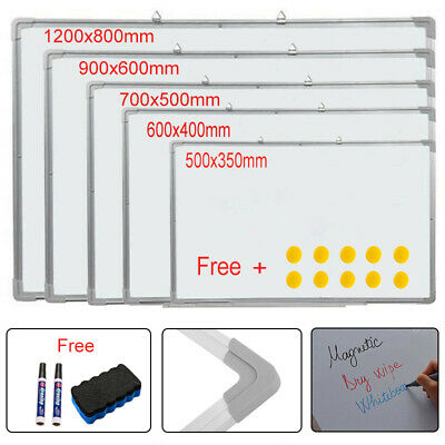 Whiteboard White Board Drawing Eraser Markers Memo Note Notice Office School UK
