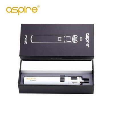 Aspire PockeX Pocket AIO Kit 0,6ohm Coils All-in-One Vapor Full Vape White GE