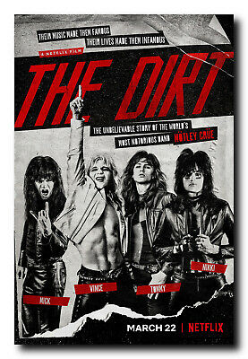The Dirt Movie Poster - Full Color Portrait Print - Free Stickers - Motley Crue