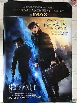 Fantastic Beasts Harry Potter IMAX Movie Theater Poster 2 Double Sided DS