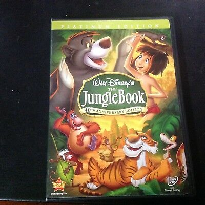 Disney 40th Anniversary Platinum Edition THE JUNGLE BOOK animated DVD 2 disc set