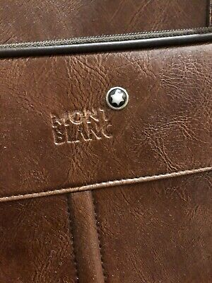 Mont Blanc Leather Duffle Bag
