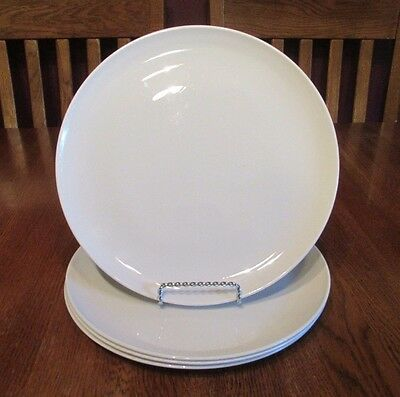 Four Vintage Corning Centura White Coupe Dinner Plates