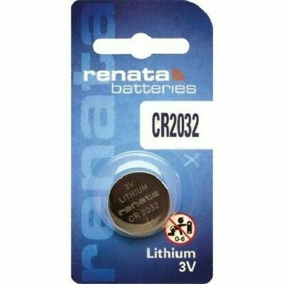 2 x RENATA CR2032 BATTERY SWISS MADE - LITHIUM 3V COIN BUTTON CELL BATTERIES