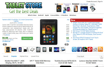 Amazon Affiliate Tablet Store Website Free Installation + Hosting