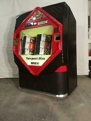 Rowe AMI CD100E Red & Black Jukebox- Includes 100 CDs and Bluetooth Audio!