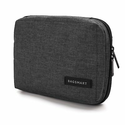BAGSMART Portable Travel USB Cable Organizer Bag Cases for Small Electronics and