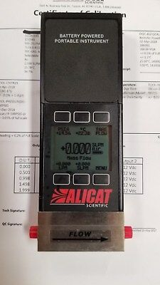 ALICAT Scientific MB-2SLPM-D Mass Flowmeter, 0-2 SLPM, NEW with CAL CERTS!
