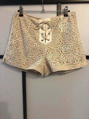 Winona Floral Lace Tie Up Shorts- 8
