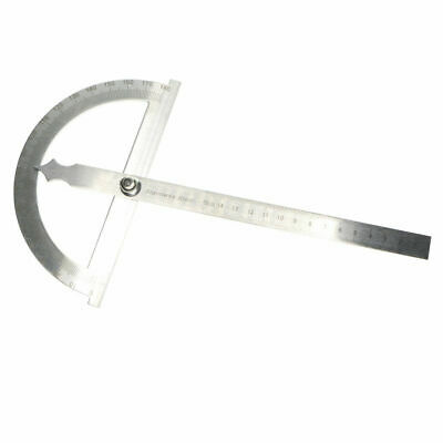 0-180° Stainless Steel Protractor Rotary Angle Finder Arm Ruler Measure Gauge