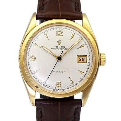 0e85ec8a1c4 ROLEX Ref.6094 OYSTERDATE Leather Belt Hand-winding Watch Vintage Working  Used