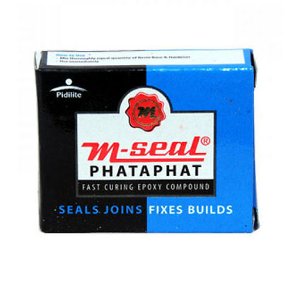 PIDILITE M-SEAL PHATAPHAT FAST CURING EPOXY COMPOUND FREE SHIPPING 50 gm