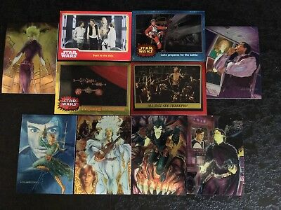 Star Wars Trading Cards Mixed Lot Of 25 Skywalker Yoda Han Solo