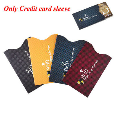 5PCS Anti Theft Credit Card Holder Aluminum RFID Blocking Sleeve Case