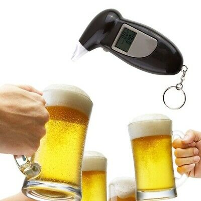 Digital Alcohol Breath Tester Breathalyzer Analyzer Detector Test Keychain LCD