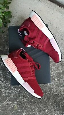 86d58df6d Adidas Womens Nmd R1 Burgundy clear Orange pink B37646 Size 9 New In Box
